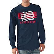 G-III Men's New England Revolution Logo Navy Long Sleeve T-Shirt