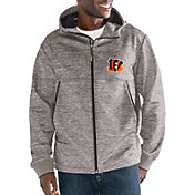 G-III Men's Cincinnati Bengals Expedition Soft Shell Grey Full-Zip Jacket