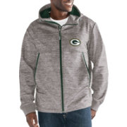 G-III Men's Green Bay Packers Expedition Soft Shell Grey Full-Zip Jacket