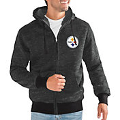 G-III Men's Pittsburgh Steelers Discovery Black Full-Zip Jacket