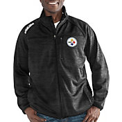G-III Men's Pittsburgh Steelers Mindset Black Full-Zip Jacket