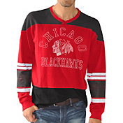 G-III Men's Chicago Blackhawks Slub Jersey Red Long Sleeve T-Shirt
