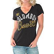 G-III For Her Women's Columbus Crew Homefield Black Slub T-Shirt