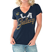 G-III For Her Women's LA Galaxy Homefield Navy Slub T-Shirt