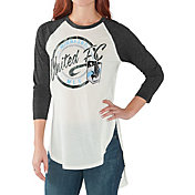 G-III for Her Women's Minnesota United FC Tailgate Three Quarter Sleeve Vintage White T-Shirt
