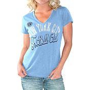 G-III For Her Women's New York City FC Homefield Blue Slub T-Shirt