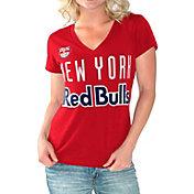 G-III For Her Women's New York Red Bulls Homefield Red Slub T-Shirt