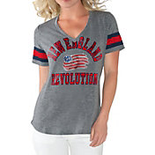 G-III For Her Women's New England Revolution Triple Play Grey T-Shirt