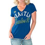 G-III For Her Women's Seattle Sounders Homefield Blue Slub T-Shirt