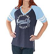 G-III For Her Women's Sporting KC Fastball Navy T-Shirt