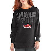G-III Women's Cleveland Cavaliers Black Showtime Crew Fleece