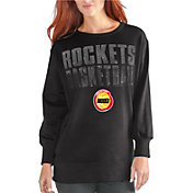 G-III Women's Houston Rockets Black Showtime Crew Fleece