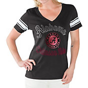 G-III For Her Women's Alabama Crimson Tide Black First Pick V-Neck T-Shirt