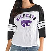 G-III For Her Women's Kansas State Wildcats White/Black First Team Three-Quarter Sleeve T-Shirt