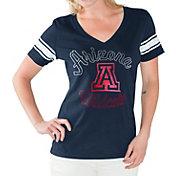G-III For Her Women's Arizona Wildcats Navy First Pick V-Neck T-Shirt