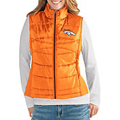 G-III for Her Women's Denver Broncos Wingback Orange Full-Zip Vest