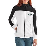 G-III for Her Women's Philadelphia Eagles Playmaker Rhinestone Track Jacket