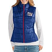 G-III for Her Women's New York Giants Wingback Royal Full-Zip Vest
