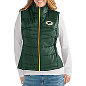 G-III for Her Women's Green Bay Packers Wingback Green Full-Zip Vest