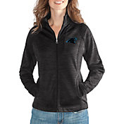 G-III for Her Women's Carolina Panthers Hand Off Black Full-Zip Jacket