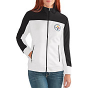 G-III for Her Women's Pittsburgh Steelers Playmaker Rhinestone Track Jacket