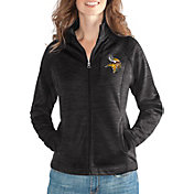 G-III for Her Women's Minnesota Vikings Hand Off Black Full-Zip Jacket