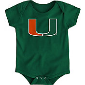 Gen2 Infant Miami Hurricanes Green Logo Onesie