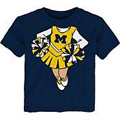 Gen2 Toddler Girls' Michigan Wolverines Blue Cheerleader Dreams T-Shirt