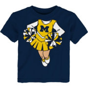 Gen2 Toddler Girls' Michigan Wolverines Blue Cheerleader Dreams T-Shirt