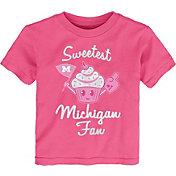Gen2 Toddler Girls' Michigan Wolverines Pink 'Sweetest Fan' T-Shirt