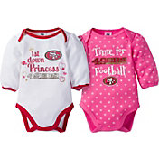 Gerber Infant Girl's San Francisco 49ers 2-Piece Long Sleeve Onesie Set