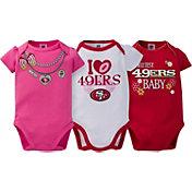 Gerber Infant Girl's San Francisco 49ers 3-Piece Onesie Set