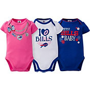 Gerber Infant Girl's Buffalo Bills 3-Piece Onesie Set