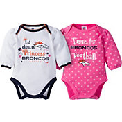 Gerber Infant Girl's Denver Broncos 2-Piece Long Sleeve Onesie Set