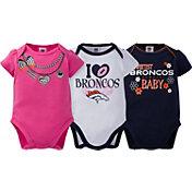 Gerber Infant Girl's Denver Broncos 3-Piece Onesie Set