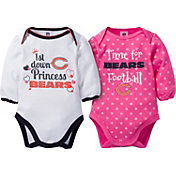 Gerber Infant Girl's Chicago Bears 2-Piece Long Sleeve Onesie Set