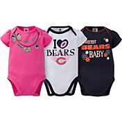 Gerber Infant Girl's Chicago Bears 3-Piece Onesie Set