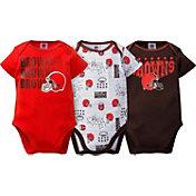 Gerber Infant Cleveland Browns 3-Piece Onesie Set