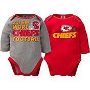 Gerber Infant Kansas City Chiefs 2-Piece Long Sleeve Onesie Set