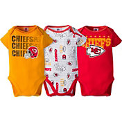 Gerber Infant Kansas City Chiefs 3-Piece Onesie Set