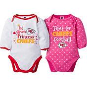 Gerber Infant Girl's Kansas City Chiefs 2-Piece Long Sleeve Onesie Set