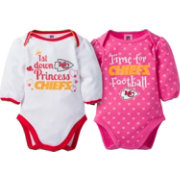 Gerber Infant Girl's Kansas City Chiefs 2-Piece Long Sleeve Onesie Set