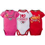 Gerber Infant Girl's Kansas City Chiefs 3-Piece Onesie Set