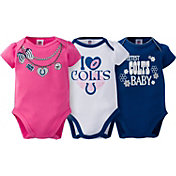 Gerber Infant Girl's Indianapolis Colts 3-Piece Onesie Set