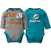 Gerber Infant Miami Dolphins 2-Piece Long Sleeve Onesie Set