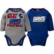 Gerber Infant New York Giants 2-Piece Long Sleeve Onesie Set