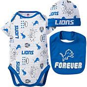Gerber Infant Detroit Lions Cap/Bib Onesie Set