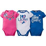 Gerber Infant Girl's Detroit Lions 3-Piece Onesie Set