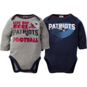 Gerber Infant New England Patriots 2-Piece Long Sleeve Onesie Set