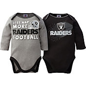 Gerber Infant Oakland Raiders 2-Piece Long Sleeve Onesie Set